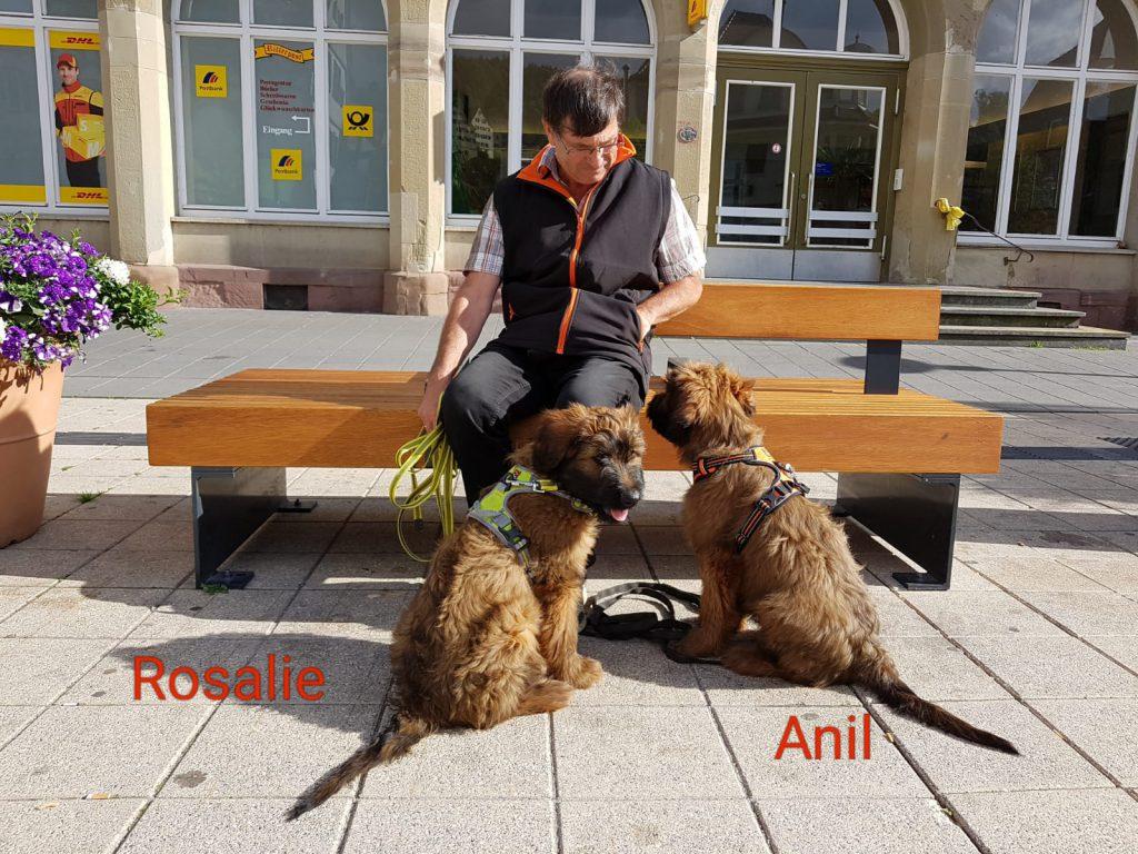 Jürgen, Anil und Rosalie machen ein Päuschen.